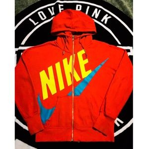 Awesome! Red & Neon NIKE HOODIE